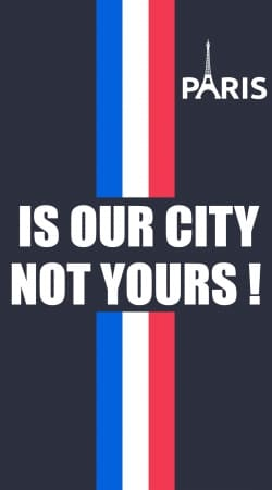 funda Paris is our city NOT Yours