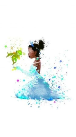 funda Princess Tiana Watercolor Art