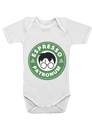 Onesies Baby Espresso Patronum inspired by harry potter