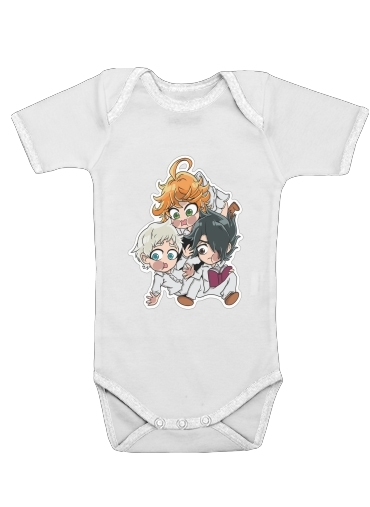 Onesies Baby The Promised Neverland - Emma, Ray, Norman Chibi