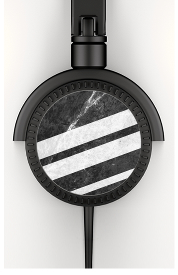 Black Striped Marble para Auriculares estéreo