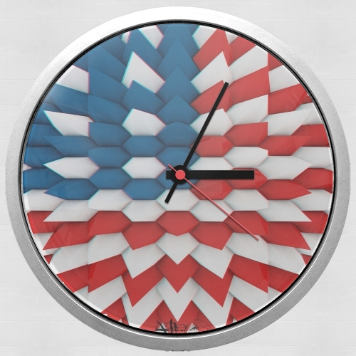 3D Poly USA flag para Reloj de pared