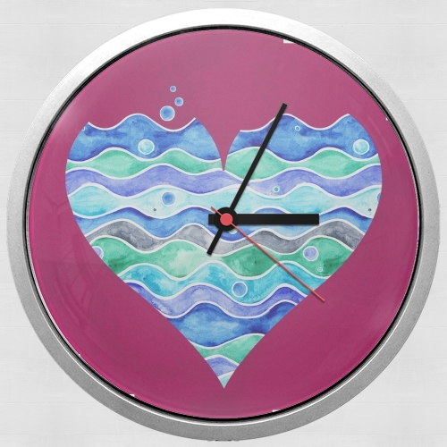 A sea of Love (purple) para Reloj de pared