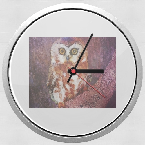 abstract cute owl para Reloj de pared