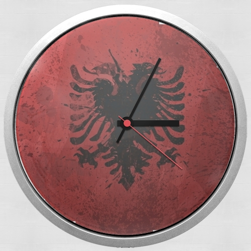 Albanie Painting Flag para Reloj de pared