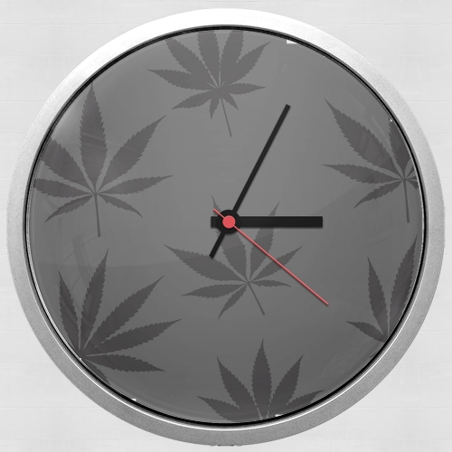 Cannabis Leaf Pattern para Reloj de pared