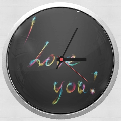 I love you - Rainbow Text para Reloj de pared