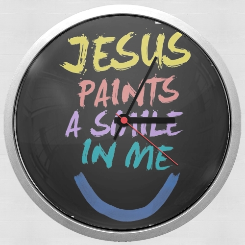 Jesus paints a smile in me Bible para Reloj de pared