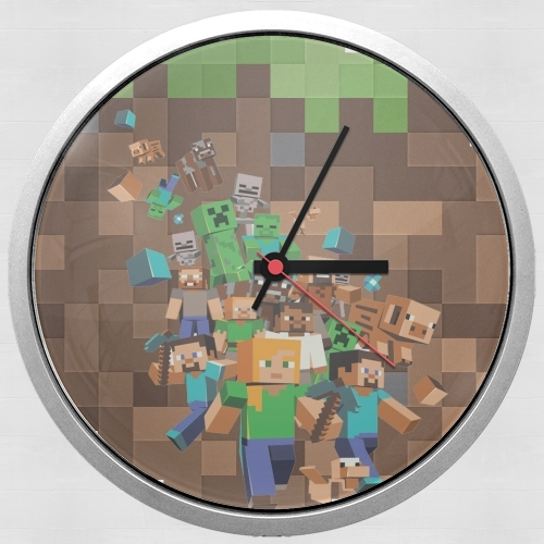 Minecraft Creeper Forest para Reloj de pared