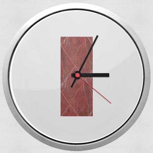 Minimal Marble Red para Reloj de pared