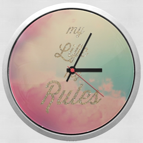 My life My rules para Reloj de pared