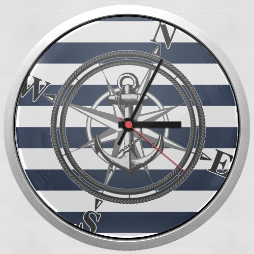 Navy Striped Nautica para Reloj de pared