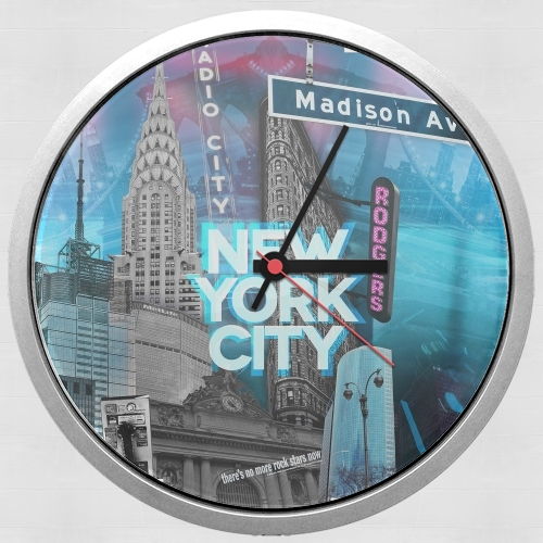 New York City II [blue] para Reloj de pared