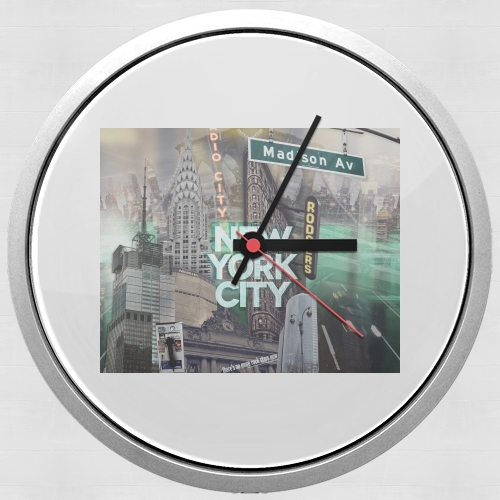 New York City II [green] para Reloj de pared