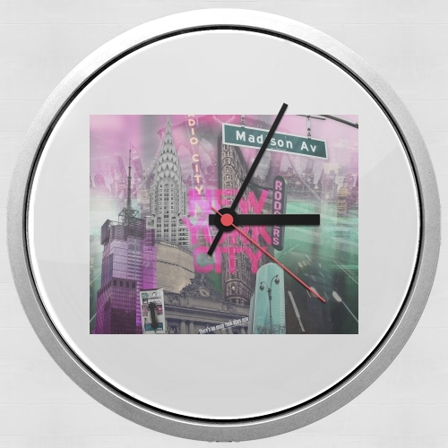 New York City II [pink] para Reloj de pared