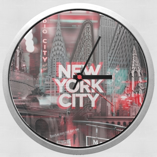 New York City II [red] para Reloj de pared
