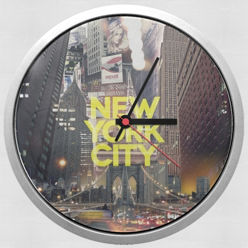 New York City II [yellow] para Reloj de pared