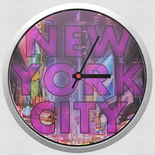 New York City - Broadway Color para Reloj de pared