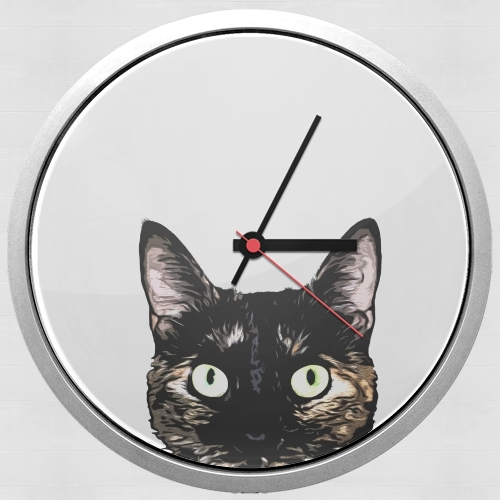 Peeking Cat para Reloj de pared