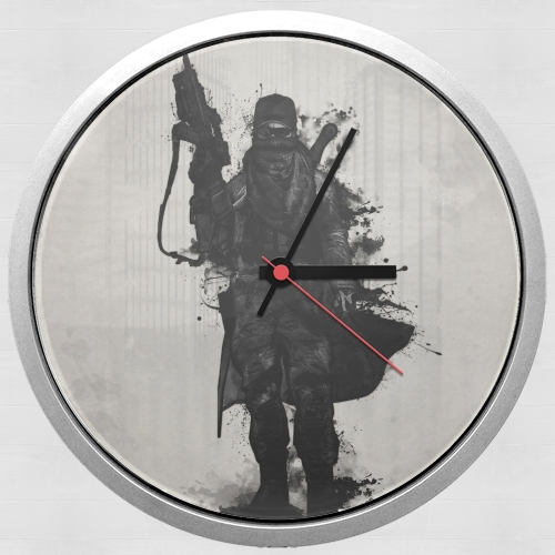 Post Apocalyptic Warrior para Reloj de pared
