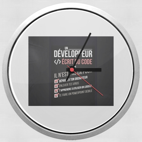 Un developpeur ecrit du code Stop para Reloj de pared