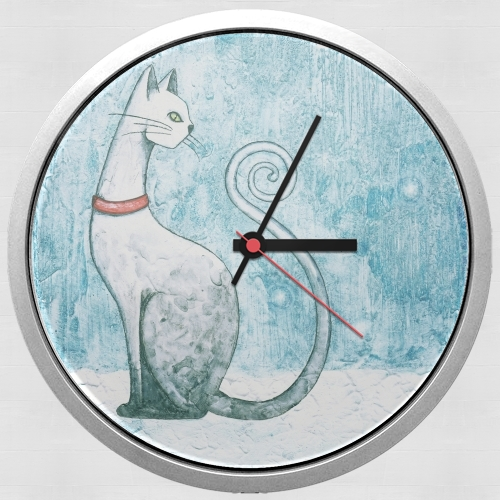 Winter Cat para Reloj de pared