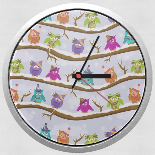 winter owls para Reloj de pared