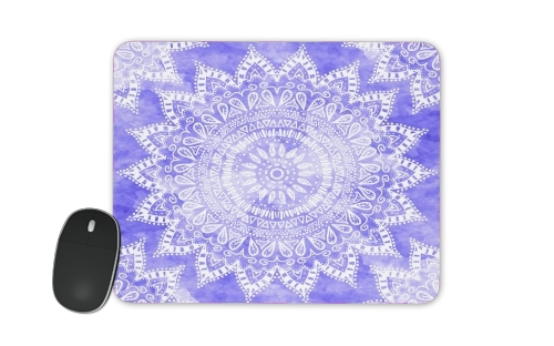 Bohemian Flower Mandala in purple para alfombrillas raton