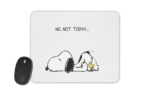 Snoopy No Not Today para alfombrillas raton