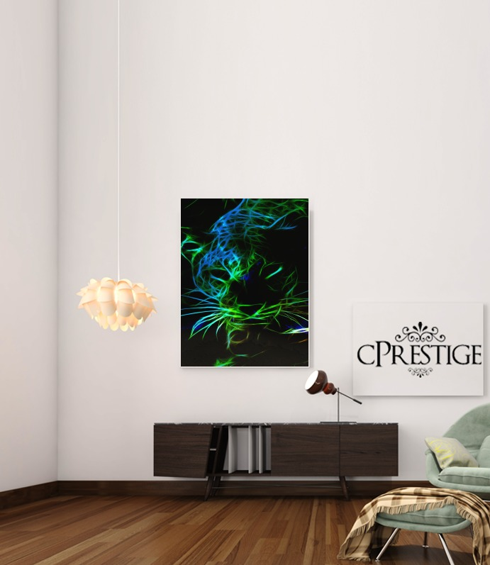 Abstract neon Leopard para Poster adhesivas 30 * 40 cm