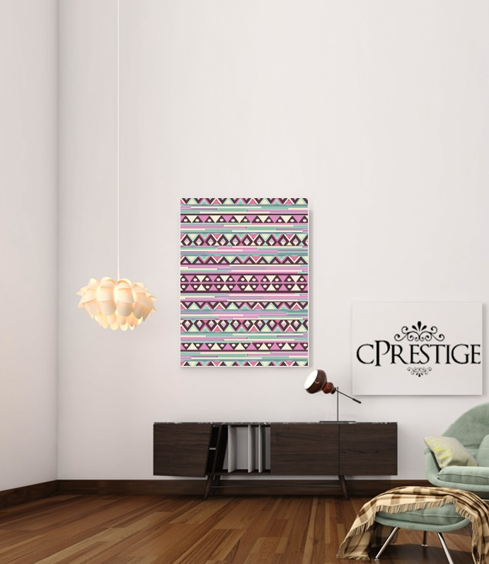Aztec Pink And Mint para Poster adhesivas 30 * 40 cm