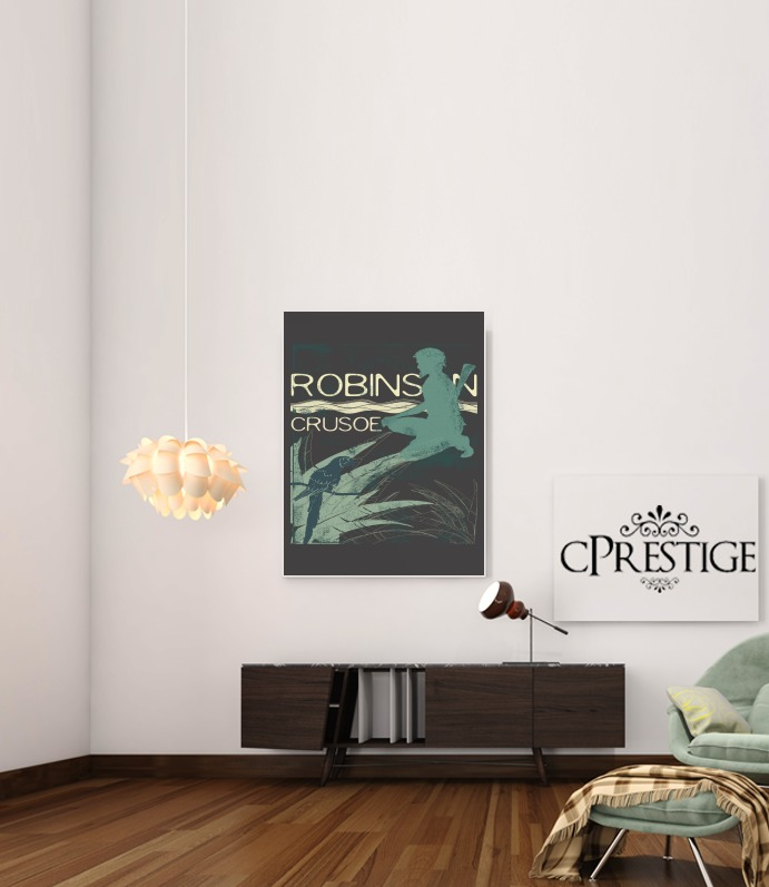 Book Collection: Robinson Crusoe para Poster adhesivas 30 * 40 cm