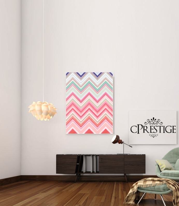 colorful chevron in pink para Poster adhesivas 30 * 40 cm