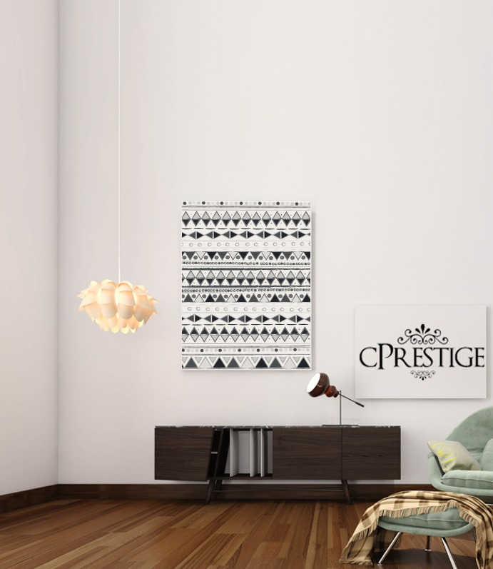 Ethnic Candy Tribal in Black and White para Poster adhesivas 30 * 40 cm