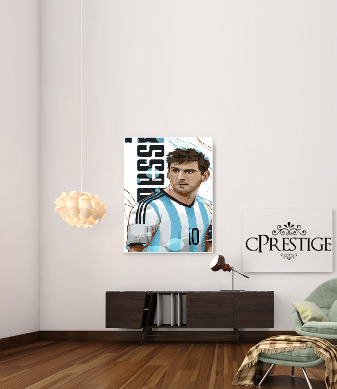 Football Legends: Lionel Messi - Argentina para Poster adhesivas 30 * 40 cm