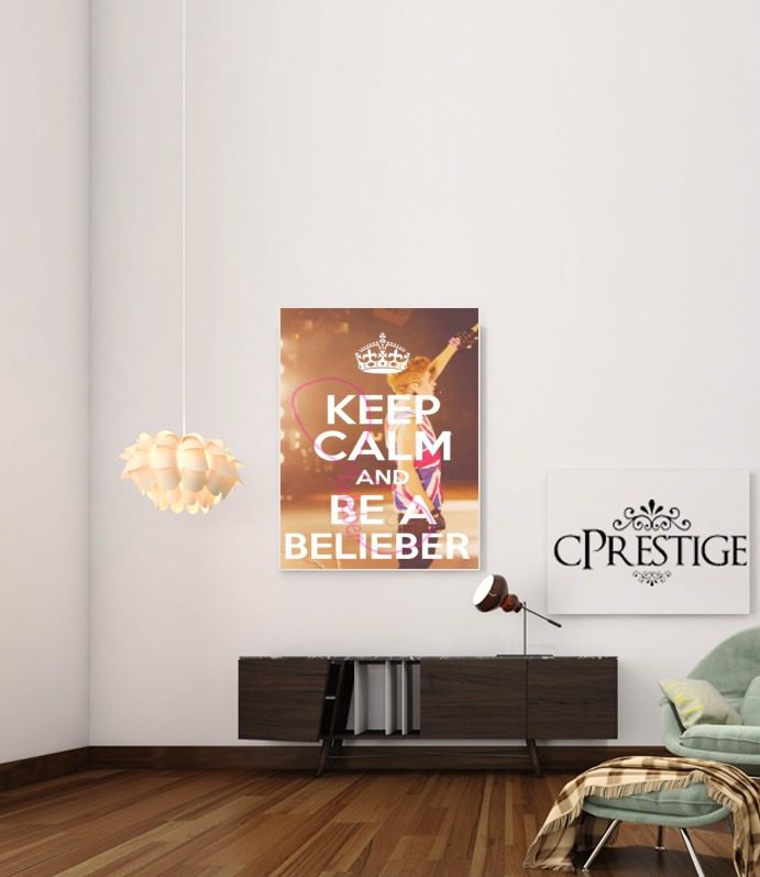 Keep Calm And Be a Belieber para Poster adhesivas 30 * 40 cm