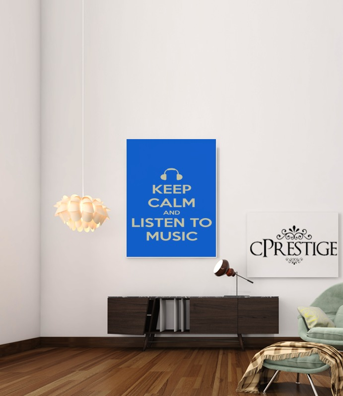 Keep Calm And Listen to Music para Poster adhesivas 30 * 40 cm