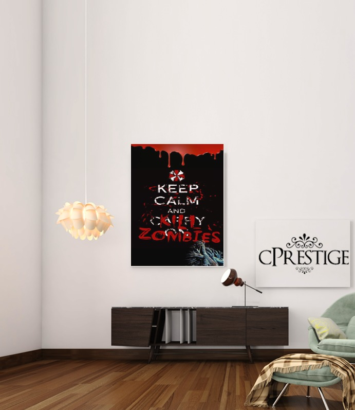 Keep Calm And Kill Zombies para Poster adhesivas 30 * 40 cm