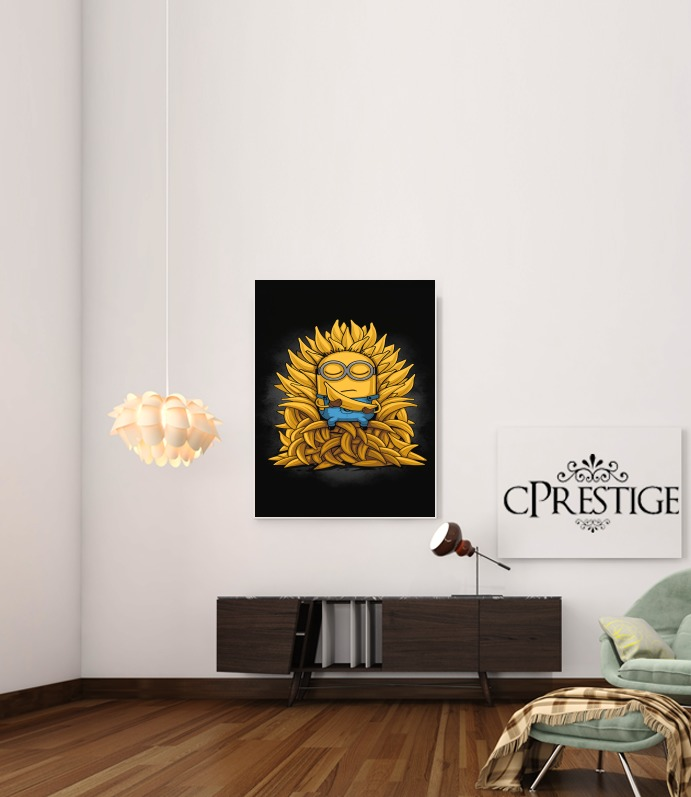 Minion Throne para Poster adhesivas 30 * 40 cm