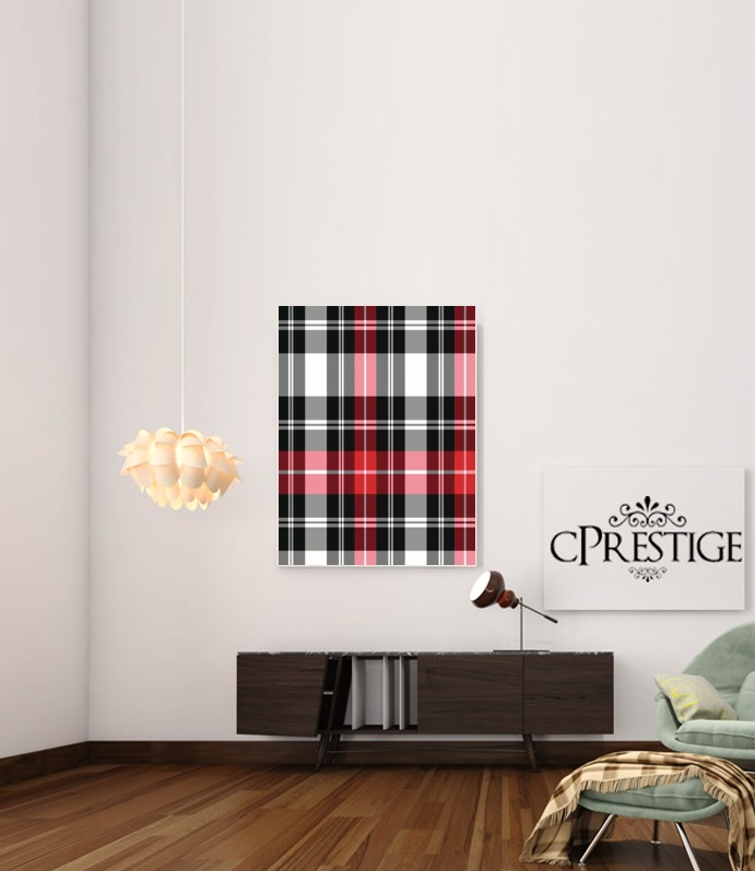Red Plaid para Poster adhesivas 30 * 40 cm