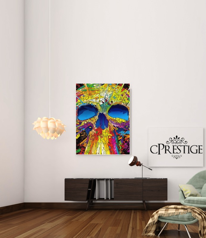 Color Skull Flashy para Poster adhesivas 30 * 40 cm