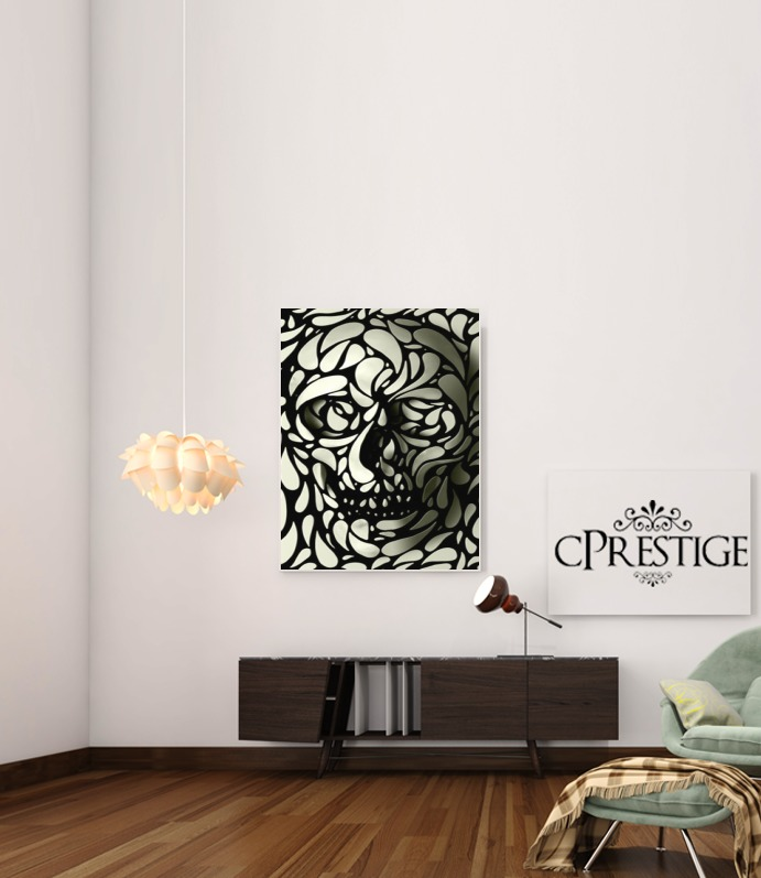 Skull Zebra White And Black para Poster adhesivas 30 * 40 cm