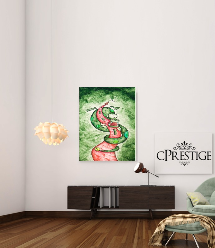 The Dragon and The Tower para Poster adhesivas 30 * 40 cm