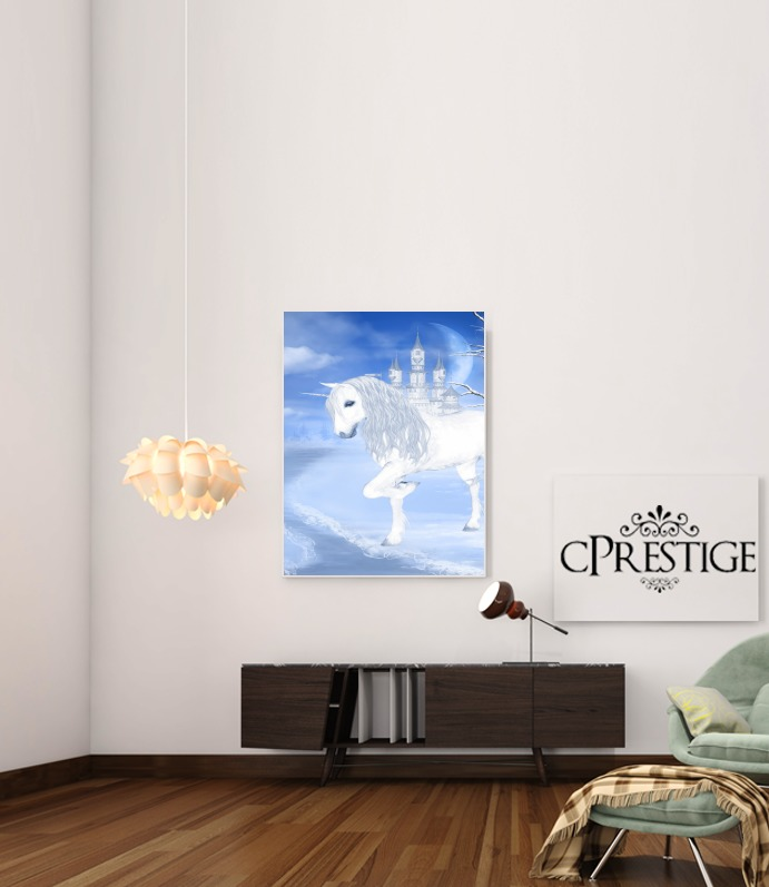 The White Unicorn para Poster adhesivas 30 * 40 cm