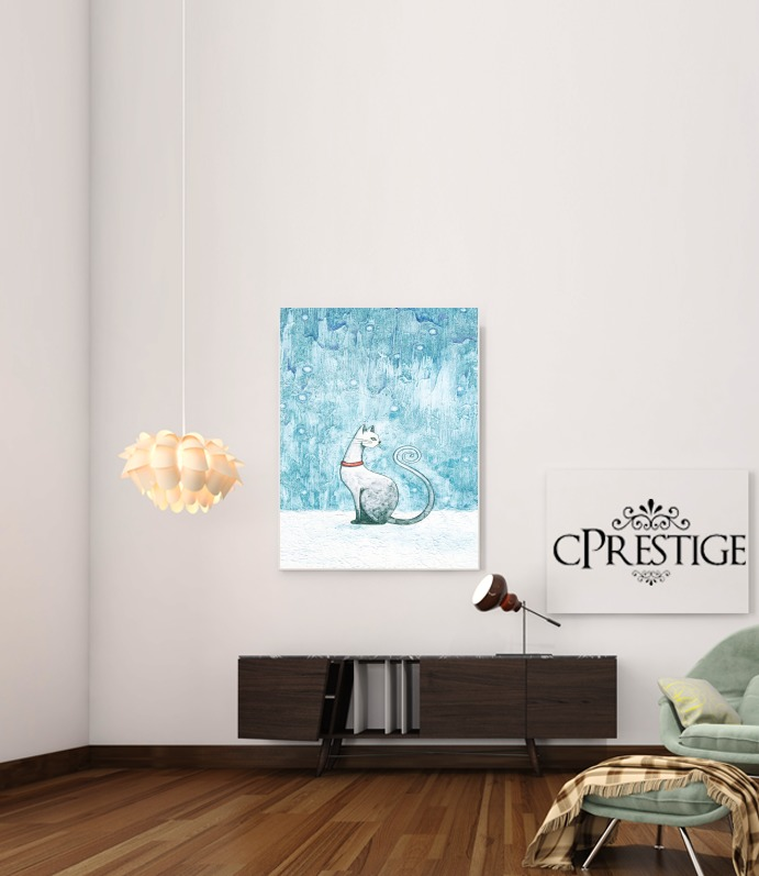 Winter Cat para Poster adhesivas 30 * 40 cm