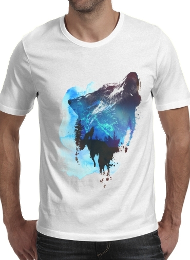Alone as a wolf para Camisetas hombre