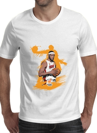 Basketball Stars: Lebron James para Camisetas hombre