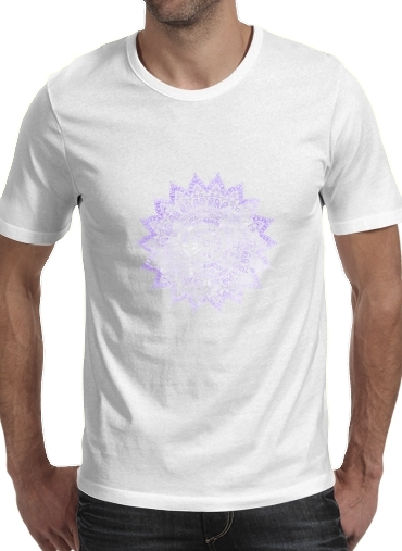 Bohemian Flower Mandala in purple para Camisetas hombre