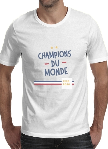 Champion du monde 2018 Supporter France para Camisetas hombre