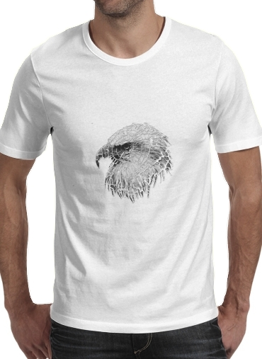 cracked Bald eagle  para Camisetas hombre